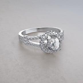 anillo de compromiso split pave