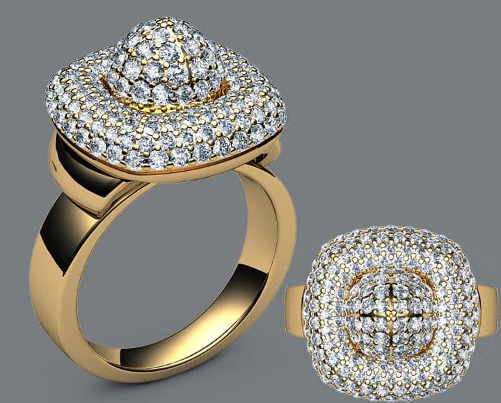 anillo de oro 24k