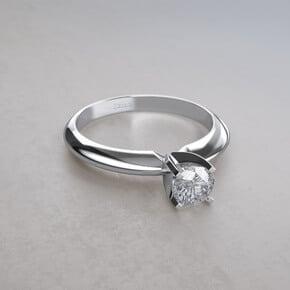anillo diamante redondo