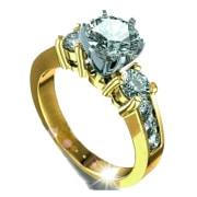 anillo de compromiso de oro