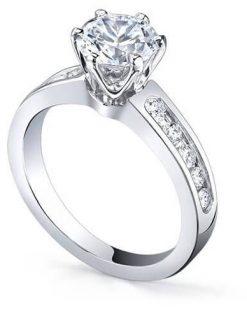 anillo de compromiso laterales